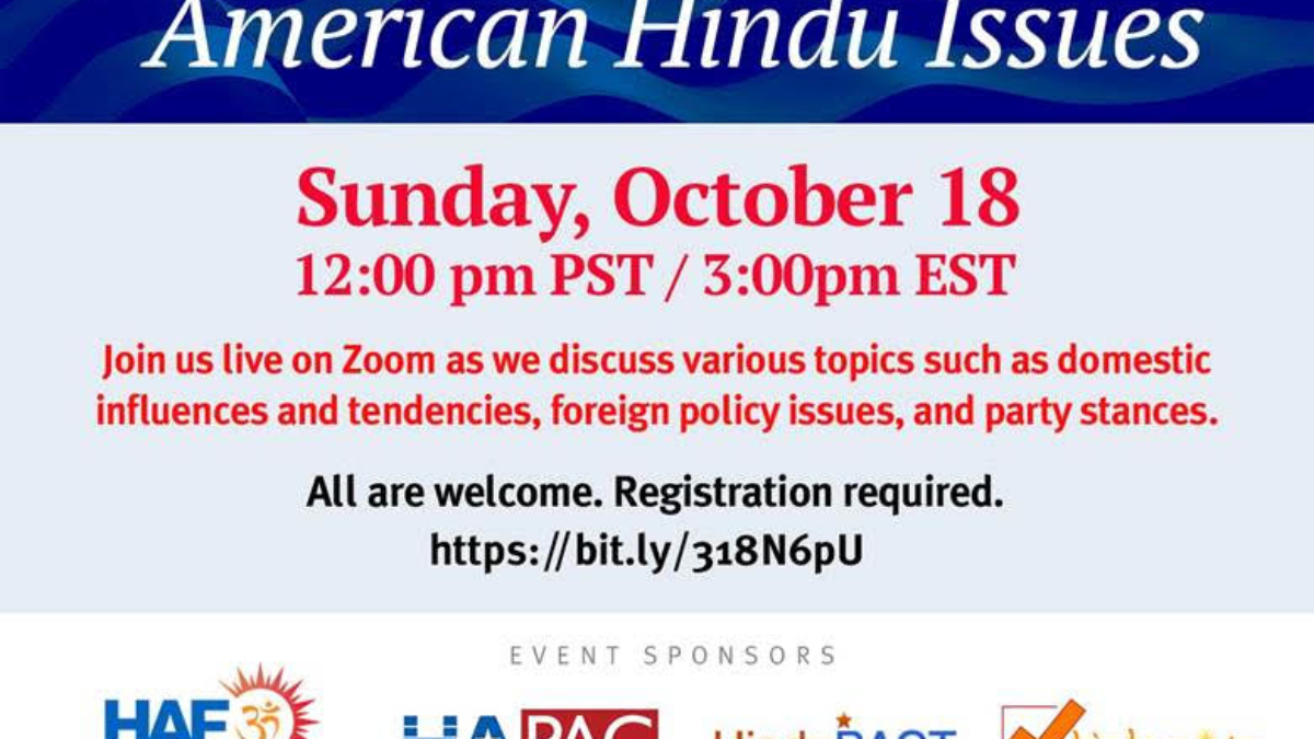 Presidential Debate Hindu Issues