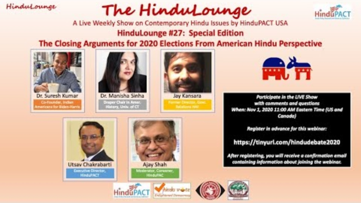 HinduLounge #27: Special Edition: Closing Arguments for 2020 elections