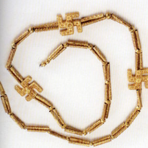 3200 year old swastika necklace excavated from Marlik, Gilan province, Northern Iran