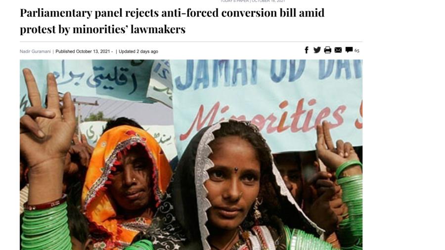 dawn pakistan forced conversion